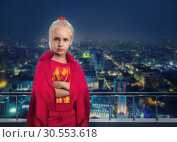 Купить «Smiling little girl in costume», фото № 30553618, снято 8 августа 2015 г. (c) Tryapitsyn Sergiy / Фотобанк Лори