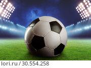 Football on the football ground. Стоковое фото, фотограф Tryapitsyn Sergiy / Фотобанк Лори