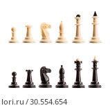 Chess figures isolated. Стоковое фото, фотограф Tryapitsyn Sergiy / Фотобанк Лори