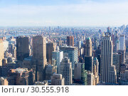 Купить «Manhattan with Empire State Building panorama», фото № 30555918, снято 9 июня 2016 г. (c) Tryapitsyn Sergiy / Фотобанк Лори