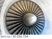 Jet engine blades closeup. Стоковое фото, фотограф Tryapitsyn Sergiy / Фотобанк Лори