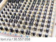 Купить «Old electronic components», фото № 30557058, снято 3 июля 2016 г. (c) Tryapitsyn Sergiy / Фотобанк Лори