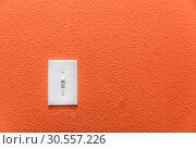 Купить «Power switch on the wall.», фото № 30557226, снято 11 июля 2016 г. (c) Tryapitsyn Sergiy / Фотобанк Лори
