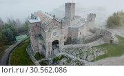Купить «Top view of the castle Castillo de Javier. Huesca Province. Aragon. Spain», видеоролик № 30562086, снято 23 декабря 2018 г. (c) Яков Филимонов / Фотобанк Лори