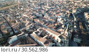 Купить «Aerial view of the french city of Carpentras. Provence, France», видеоролик № 30562986, снято 6 января 2019 г. (c) Яков Филимонов / Фотобанк Лори