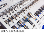 Professional toolbox, heads and nozzles closeup. Стоковое фото, фотограф Tryapitsyn Sergiy / Фотобанк Лори