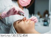 Rejuvenation procedure, getting rid of wrinkles. Стоковое фото, фотограф Tryapitsyn Sergiy / Фотобанк Лори