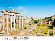 Купить «Римский Форум. Весенний день. Рим. Италия», фото № 30577994, снято 28 апреля 2018 г. (c) E. O. / Фотобанк Лори