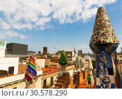 Rooftop of Palau Guell (2018 год). Редакционное фото, фотограф Яков Филимонов / Фотобанк Лори