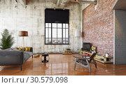 Купить «modern loft design», фото № 30579098, снято 2 ноября 2019 г. (c) Виктор Застольский / Фотобанк Лори