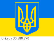 Купить «Ukrainian flag and coat of arms», иллюстрация № 30580770 (c) Александр Подшивалов / Фотобанк Лори