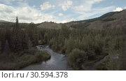 Купить «Mountain river. fast stream water. Russia Altai», видеоролик № 30594378, снято 6 апреля 2019 г. (c) Ильин Сергей / Фотобанк Лори