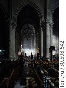 Купить «Notre Dame de Paris. Inside the Cathedral», фото № 30598542, снято 16 апреля 2019 г. (c) age Fotostock / Фотобанк Лори