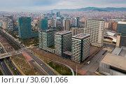 Купить «Landscape of Barcelona in coastal zone», фото № 30601066, снято 16 февраля 2018 г. (c) Яков Филимонов / Фотобанк Лори
