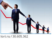 Купить «Businessmen blaming each other for failures», фото № 30605362, снято 18 июля 2019 г. (c) Elnur / Фотобанк Лори