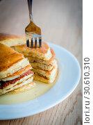 Купить «Pancakes», фото № 30610310, снято 21 июля 2013 г. (c) easy Fotostock / Фотобанк Лори