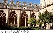 Купить «The Monastery of Santa Maria de Santes Creus (Aiguamurcia). Catalonia, Spain», видеоролик № 30617046, снято 11 февраля 2019 г. (c) Яков Филимонов / Фотобанк Лори