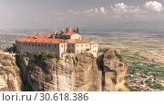Купить «Varlaam Monastery in Meteora, Greece», фото № 30618386, снято 4 июля 2018 г. (c) Sergii Zarev / Фотобанк Лори