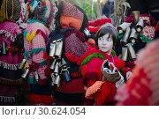 Festa dos Rapazes, or Festa de Santo Estevão (Saint Stephen), a religious festivity with deep roots in pagan Winter Solstice celebrations that takes place... (2018 год). Редакционное фото, фотограф João Almeida / age Fotostock / Фотобанк Лори