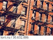 Fire escape in New York. Стоковое фото, фотограф sumners / easy Fotostock / Фотобанк Лори