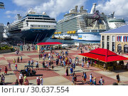 Купить «Cruise ships at the port of St. John's Antigua is the capital and largest city of Antigua and Barbuda, located in the West Indies in the Caribbean Sea...», фото № 30637554, снято 22 января 2019 г. (c) age Fotostock / Фотобанк Лори
