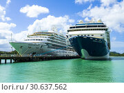 Купить «Cruise ships at the port of St. John's Antigua is the capital and largest city of Antigua and Barbuda, located in the West Indies in the Caribbean Sea...», фото № 30637562, снято 22 января 2019 г. (c) age Fotostock / Фотобанк Лори