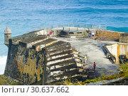 Купить «Fort Castillo San Felipe del Morro at San Juan, Puerto Rico s capital and largest city, sits on the island's Atlantic coast. Its widest beach fronts the...», фото № 30637662, снято 23 января 2019 г. (c) age Fotostock / Фотобанк Лори