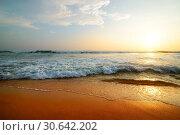Купить «Indian ocean at sunset», фото № 30642202, снято 26 декабря 2015 г. (c) easy Fotostock / Фотобанк Лори
