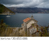 Купить «High angle view of a church, Bay of Kotor, Montenegro», фото № 30653686, снято 20 января 2020 г. (c) Ingram Publishing / Фотобанк Лори
