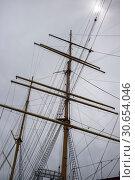 Купить «Low angle view of Tall Ship at South Street Seaport, Manhattan, New York City, New York State, USA», фото № 30654046, снято 28 апреля 2016 г. (c) Ingram Publishing / Фотобанк Лори