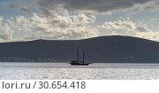 Купить «Sailboat in bay, Bay of Kotor, Montenegro», фото № 30654418, снято 19 октября 2019 г. (c) Ingram Publishing / Фотобанк Лори