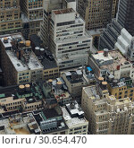 Купить «Aerial view of cityscape, Midtown Manhattan, New York City, New York State, USA», фото № 30654470, снято 18 ноября 2019 г. (c) Ingram Publishing / Фотобанк Лори