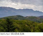 Купить «Scenic view of mountain range, Karce, Trivet, Montenegro», фото № 30654534, снято 13 декабря 2019 г. (c) Ingram Publishing / Фотобанк Лори