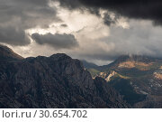Купить «Clouds over mountains, Montenegro», фото № 30654702, снято 9 сентября 2017 г. (c) Ingram Publishing / Фотобанк Лори