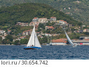 Купить «Sailboats in the sea, Bay of Kotor, Montenegro», фото № 30654742, снято 10 сентября 2017 г. (c) Ingram Publishing / Фотобанк Лори