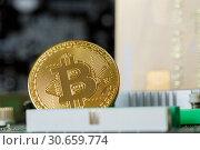 Купить «Bitcoin Digital Currency Cryptoinvestment Trade», фото № 30659774, снято 3 марта 2019 г. (c) Иван Карпов / Фотобанк Лори