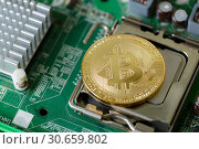 Digital Cryptocurrency Bitcoin Global Web Money. Стоковое фото, фотограф Иван Карпов / Фотобанк Лори