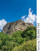 Купить «Rock formation in Meteora, Greece», фото № 30664194, снято 4 июля 2018 г. (c) Sergii Zarev / Фотобанк Лори