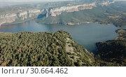Купить «Scenic panoramic view from high point of Sau reservoir, Catalonia, at autumn day», видеоролик № 30664462, снято 17 ноября 2018 г. (c) Яков Филимонов / Фотобанк Лори
