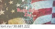 Купить «Composite image of happy martin luther king day, god bless america», фото № 30681222, снято 10 июля 2020 г. (c) Wavebreak Media / Фотобанк Лори