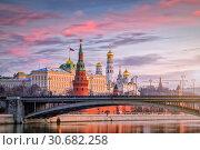 Купить «Московский Кремль утром», фото № 30682258, снято 29 ноября 2015 г. (c) Соболев Игорь / Фотобанк Лори