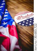Купить «Composite image of happy presidents day. vector typography», фото № 30683722, снято 16 июля 2019 г. (c) Wavebreak Media / Фотобанк Лори