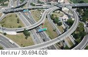 Купить «Image of car interchange of Barcelona in the Spain.», видеоролик № 30694026, снято 12 июня 2018 г. (c) Яков Филимонов / Фотобанк Лори