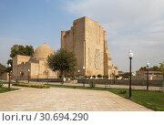 Купить «Mausoleum Complex Dorus-Saodat in Shakhrisabz, Uzbekistan», фото № 30694290, снято 16 октября 2016 г. (c) Юлия Бабкина / Фотобанк Лори