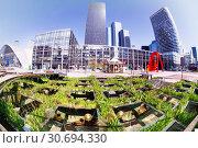 La Defense business district in spring, Paris. Стоковое фото, фотограф Сергей Новиков / Фотобанк Лори