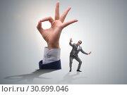 Купить «Ok gesture in business concept», фото № 30699046, снято 20 мая 2019 г. (c) Elnur / Фотобанк Лори