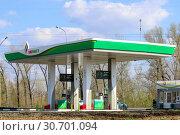 Купить «Автозаправочная станция «Татнефть» (Tatneft), Самара», фото № 30701094, снято 4 мая 2019 г. (c) Ekaterina M / Фотобанк Лори