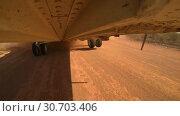 Купить «Helicopter Mi 26 Is Landing And Touches The Chassis», видеоролик № 30703406, снято 14 сентября 2017 г. (c) Pavel Biryukov / Фотобанк Лори