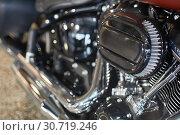 Motorcycle engine macro. Стоковое фото, фотограф Николай Куницкий / Фотобанк Лори
