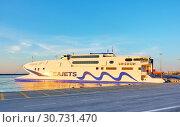 Купить «Seajets Champion Jet 1 ferry boat», фото № 30731470, снято 25 апреля 2018 г. (c) Роман Сигаев / Фотобанк Лори